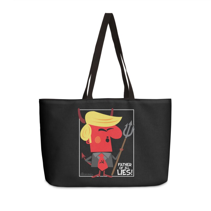 Father of All Lies Accessories Weekender Bag Bag by thePresidunce