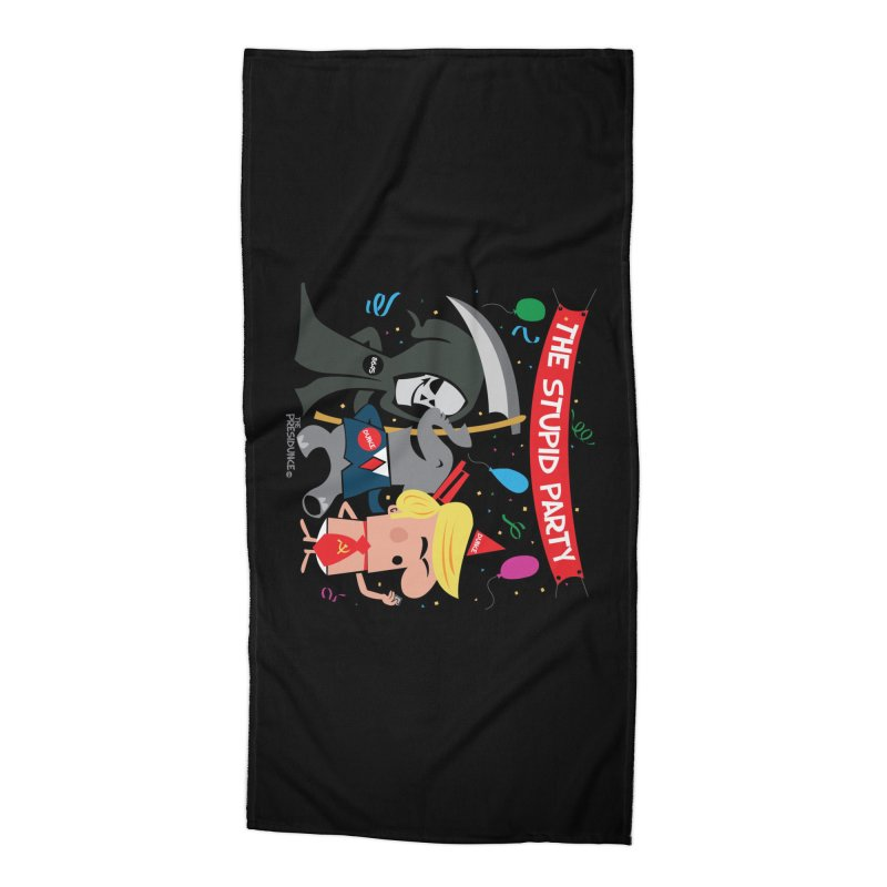 The Stupid Party Accessories Beach Towel by thePresidunce