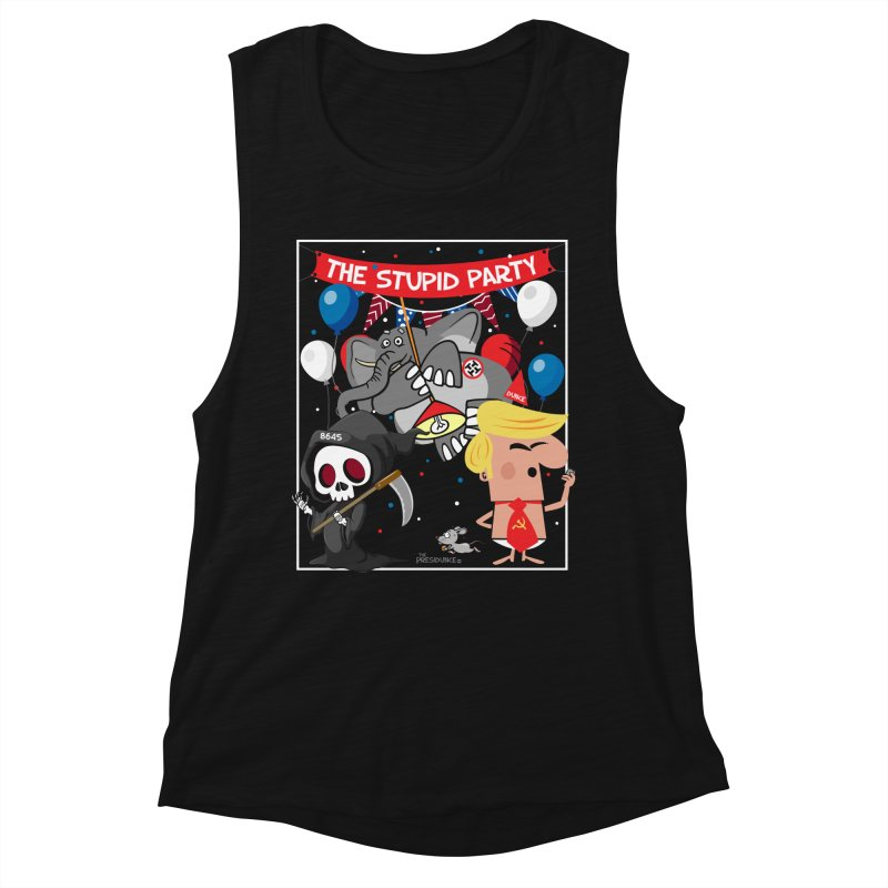 The Stupid Party Women's Muscle Tank by thePresidunce