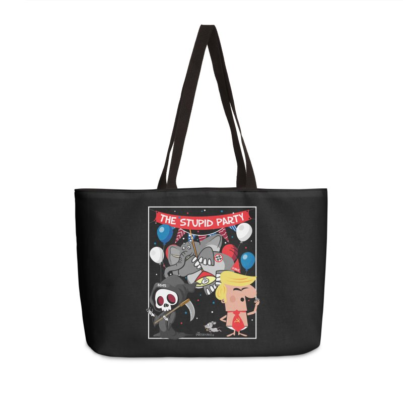 The Stupid Party Accessories Weekender Bag Bag by thePresidunce