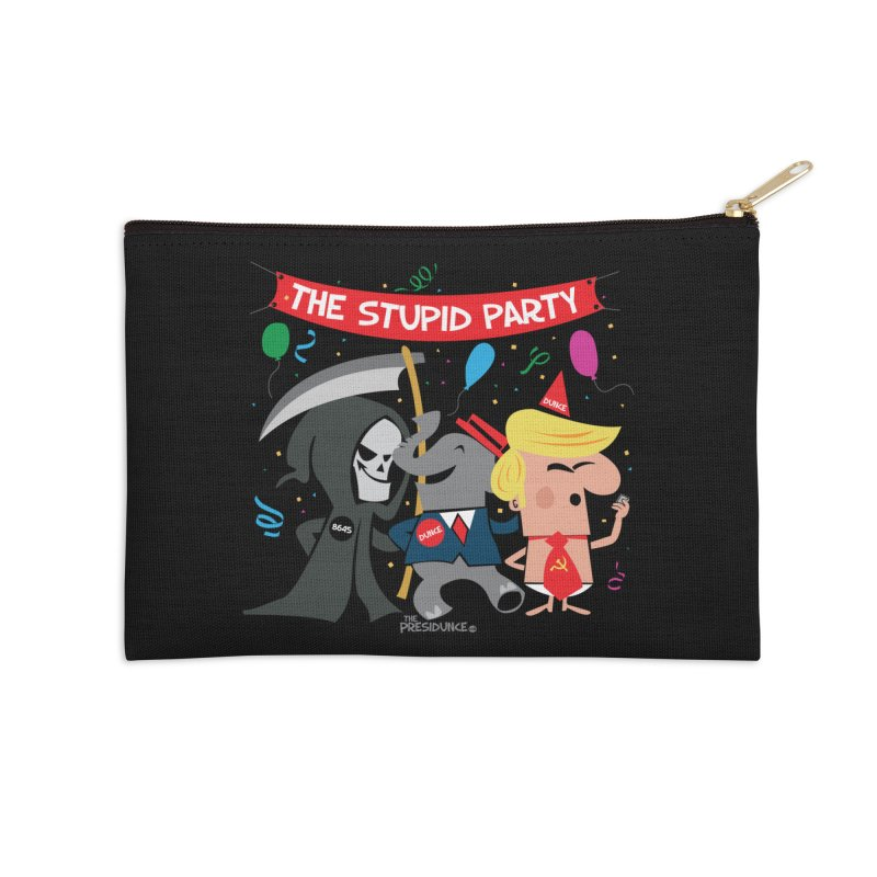 The Stupid Party Accessories Zip Pouch by thePresidunce