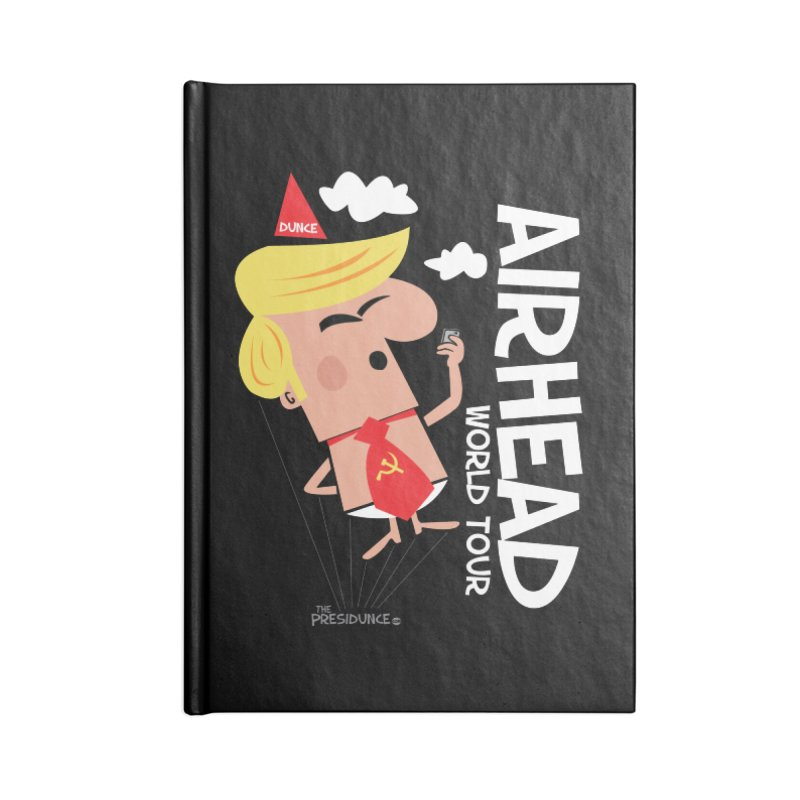Airhead Accessories Blank Journal Notebook by thePresidunce