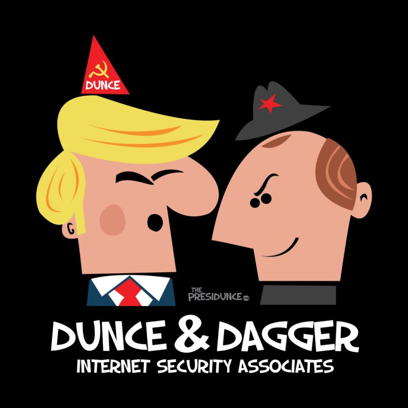Dunce & Dagger Home Stretched Canvas by thePresidunce