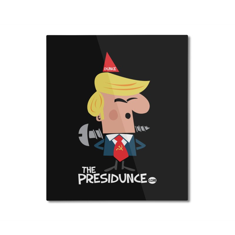 Screw the Presidunce Home Mounted Aluminum Print by thePresidunce