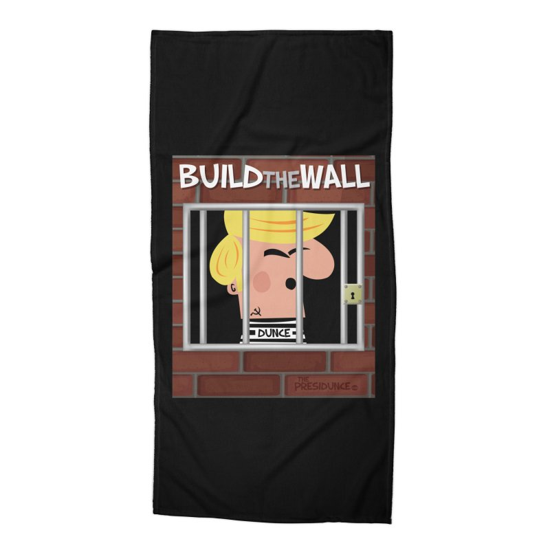 Build the Wall Accessories Beach Towel by thePresidunce