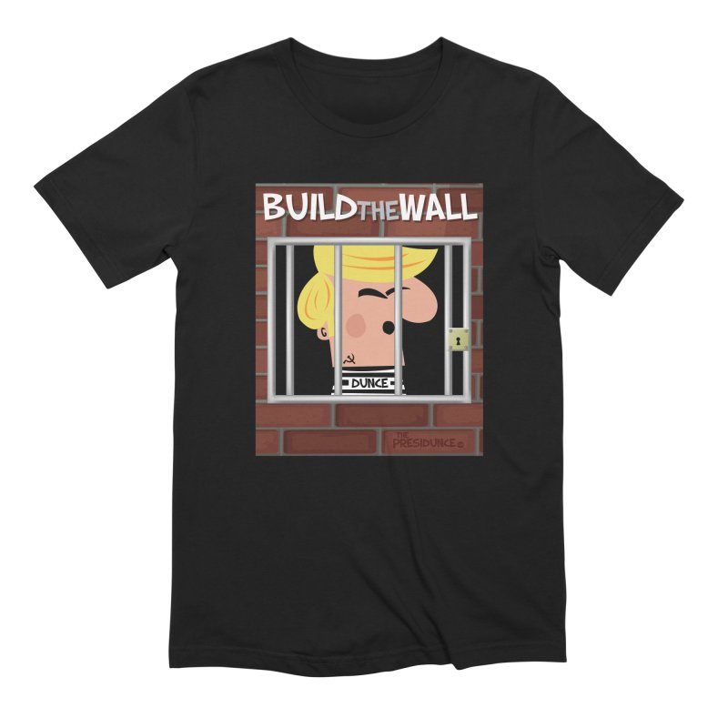 Build the Wall Men's Extra Soft T-Shirt by thePresidunce