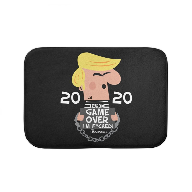 Game Over Home Bath Mat by thePresidunce
