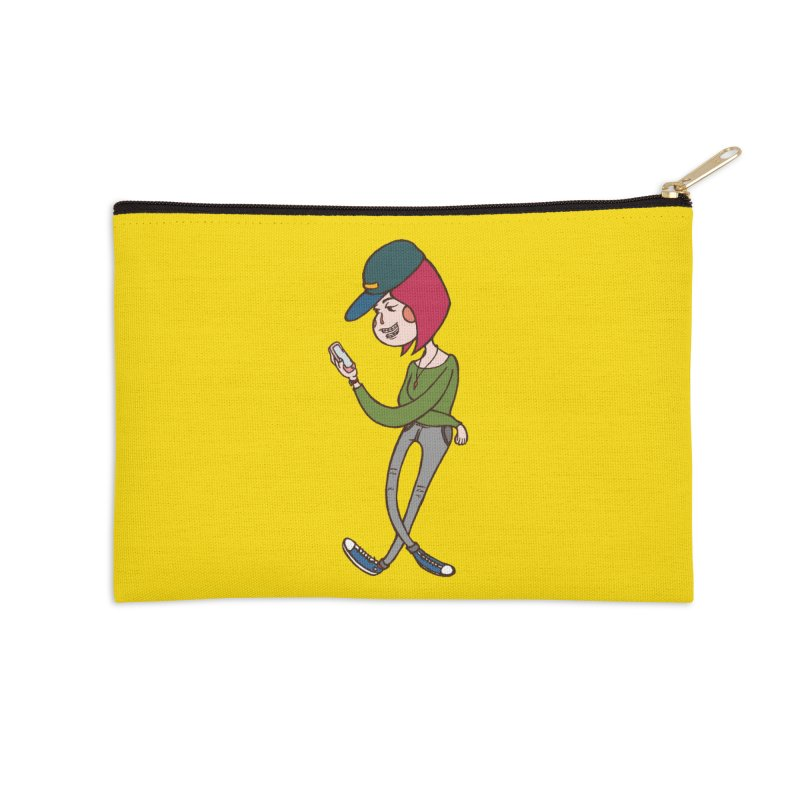 Phone Addiction Accessories Zip Pouch by The Primate Design