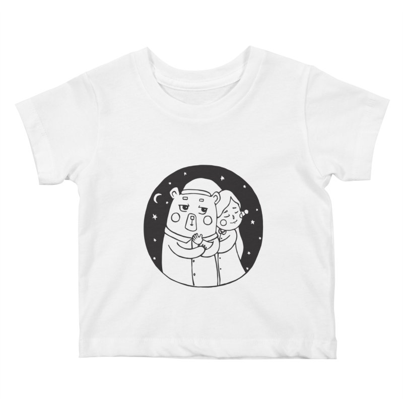 Bear With Me Kids Baby T-Shirt by The Primate Design