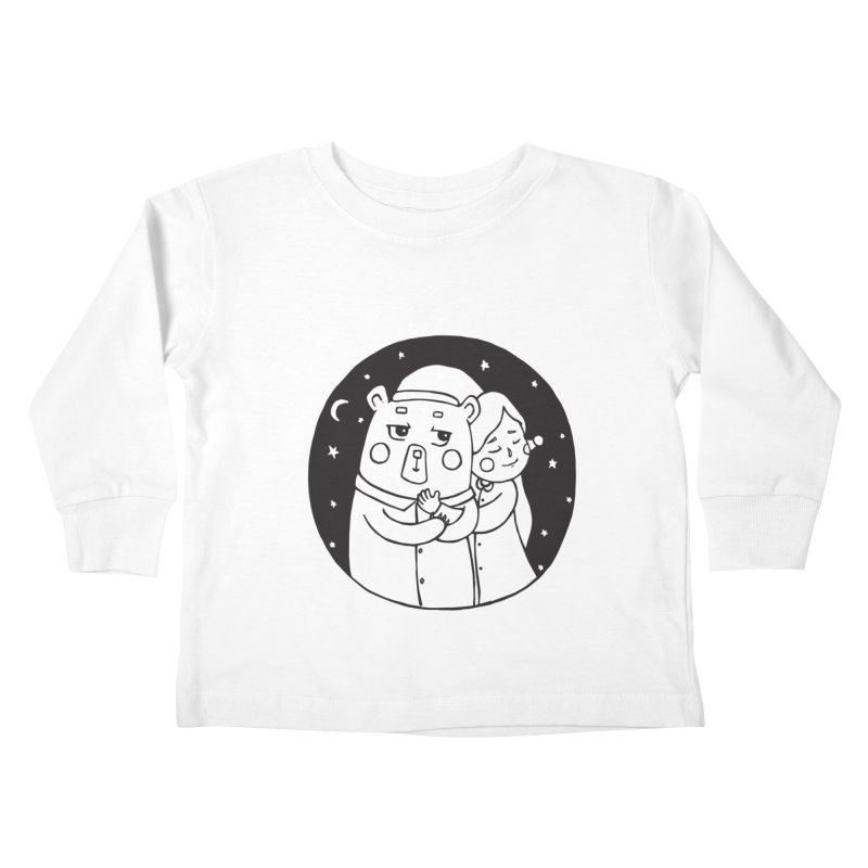 Bear With Me Kids Toddler Longsleeve T-Shirt by The Primate Design