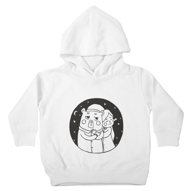 Bear With Me Kids Toddler Pullover Hoody by The Primate Design