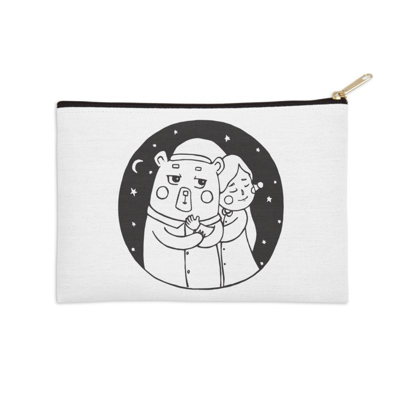 Bear With Me Accessories Zip Pouch by The Primate Design