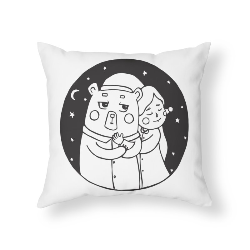 Bear With Me Home Throw Pillow by The Primate Design