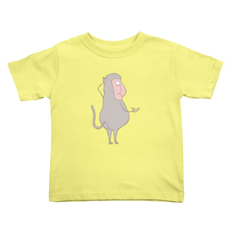Mr.Probo series: I can't eat banana Kids Toddler T-Shirt by The Primate Design