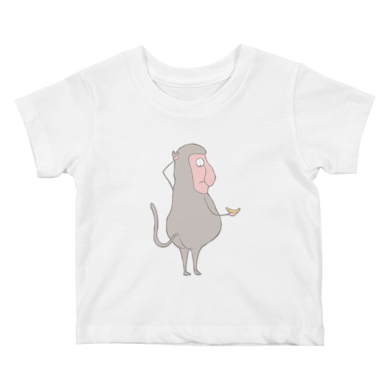 Mr.Probo series: I can't eat banana Kids Baby T-Shirt by The Primate Design