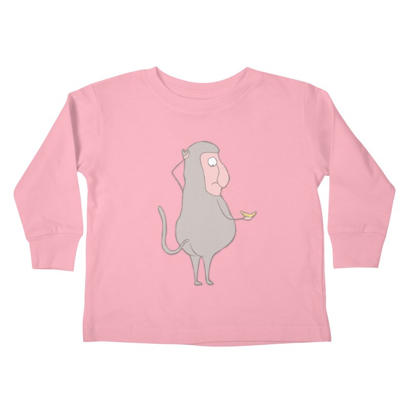 Mr.Probo series: I can't eat banana Kids Toddler Longsleeve T-Shirt by The Primate Design