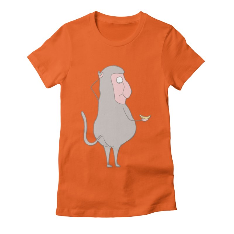 Mr.Probo series: I can't eat banana Women's Fitted T-Shirt by The Primate Design