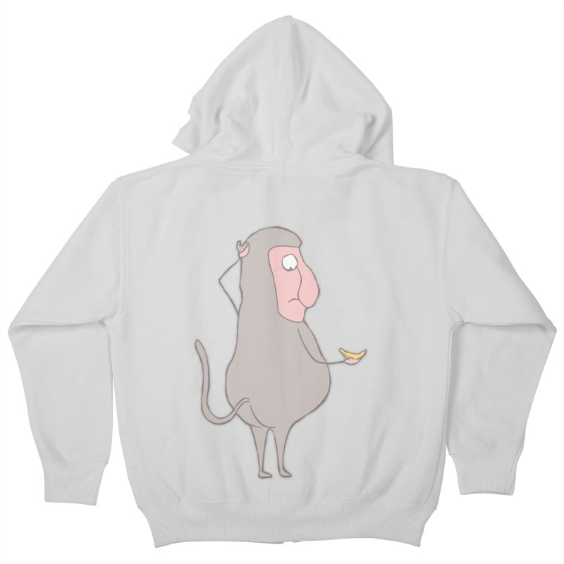 Mr.Probo series: I can't eat banana Kids Zip-Up Hoody by The Primate Design