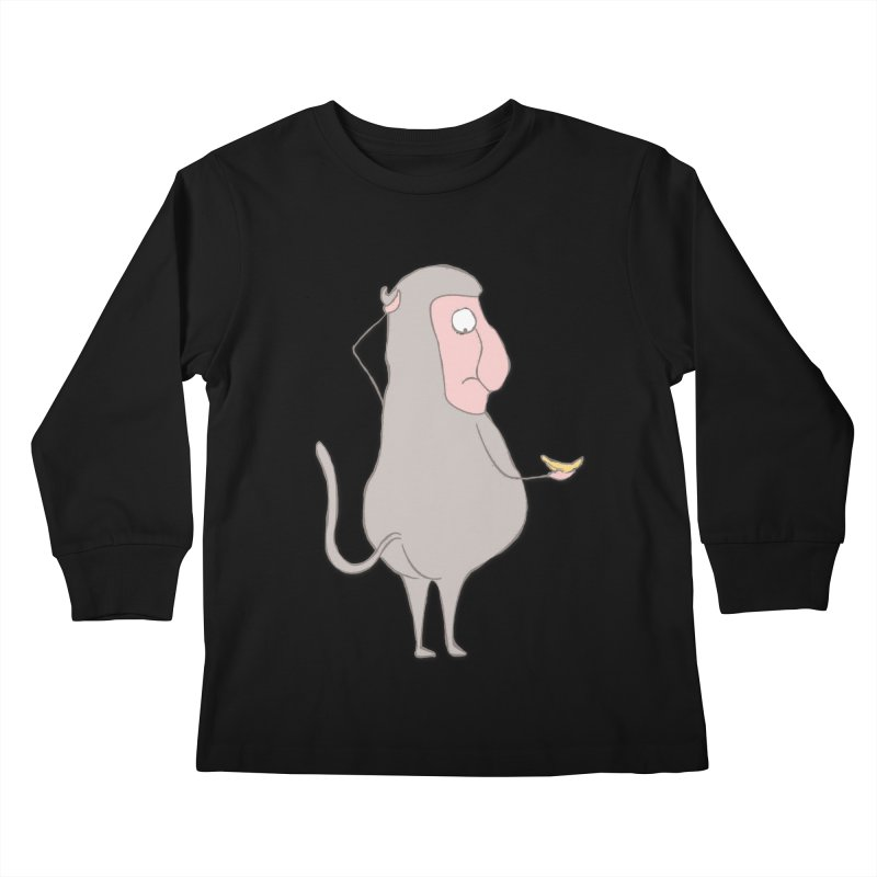 Mr.Probo series: I can't eat banana Kids Longsleeve T-Shirt by The Primate Design