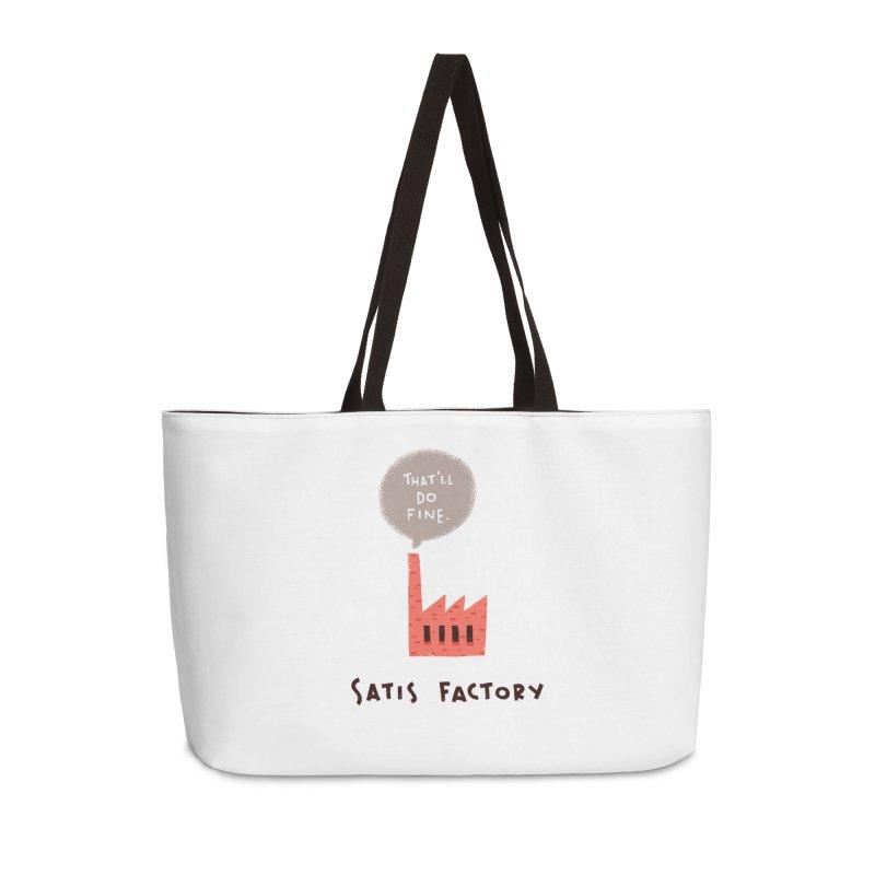 Satis Factory Accessories Weekender Bag Bag by The Pun Shop