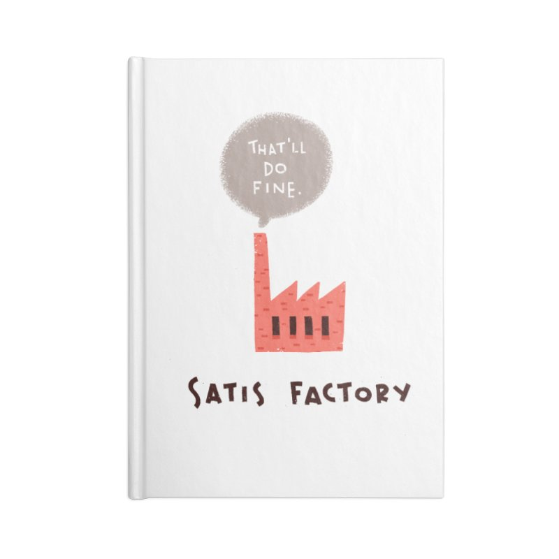 Satis Factory Accessories Blank Journal Notebook by The Pun Shop