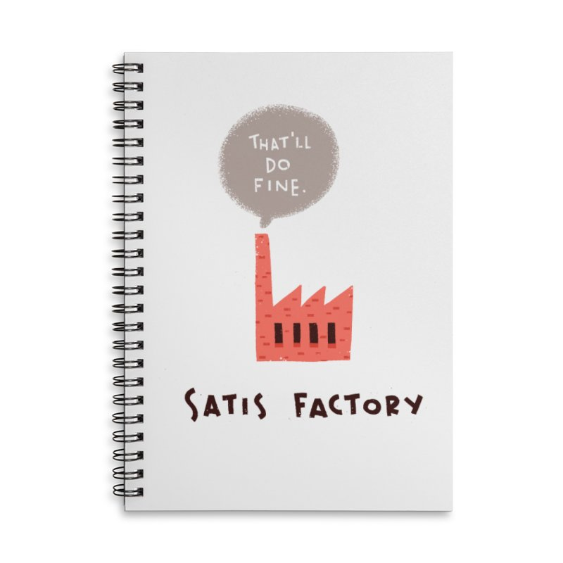 Satis Factory Accessories Lined Spiral Notebook by The Pun Shop