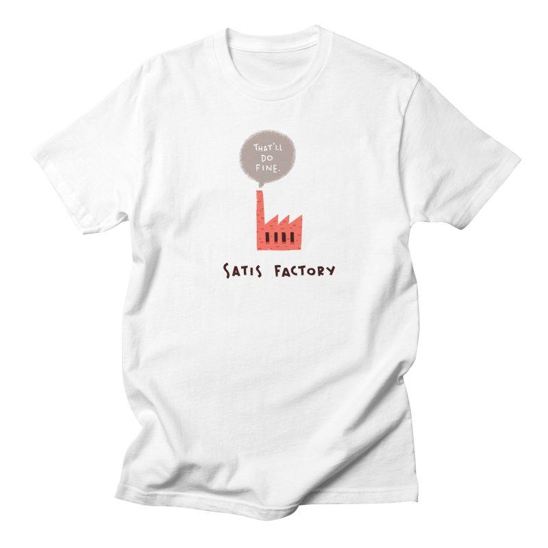 Satis Factory Men's T-Shirt by The Pun Shop
