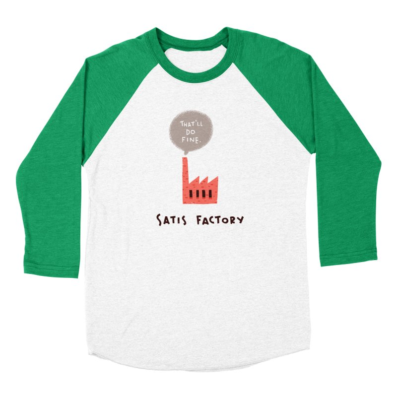 Satis Factory Men's Baseball Triblend Longsleeve T-Shirt by The Pun Shop