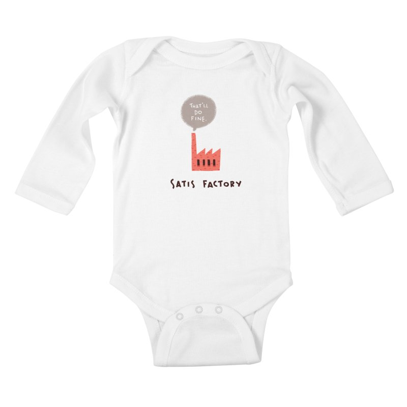 Satis Factory Kids Baby Longsleeve Bodysuit by The Pun Shop