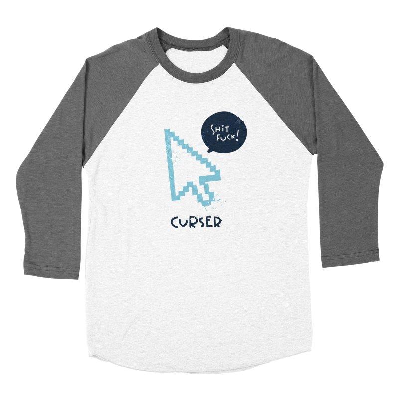 Curser Men's Baseball Triblend Longsleeve T-Shirt by The Pun Shop