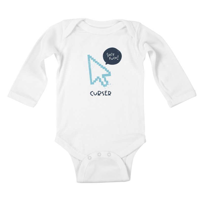 Curser Kids Baby Longsleeve Bodysuit by The Pun Shop