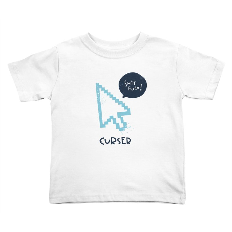 Curser Kids Toddler T-Shirt by The Pun Shop