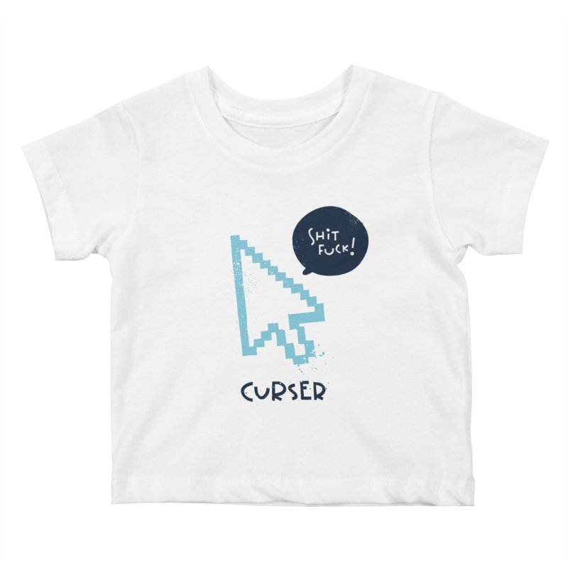 Curser Kids Baby T-Shirt by The Pun Shop