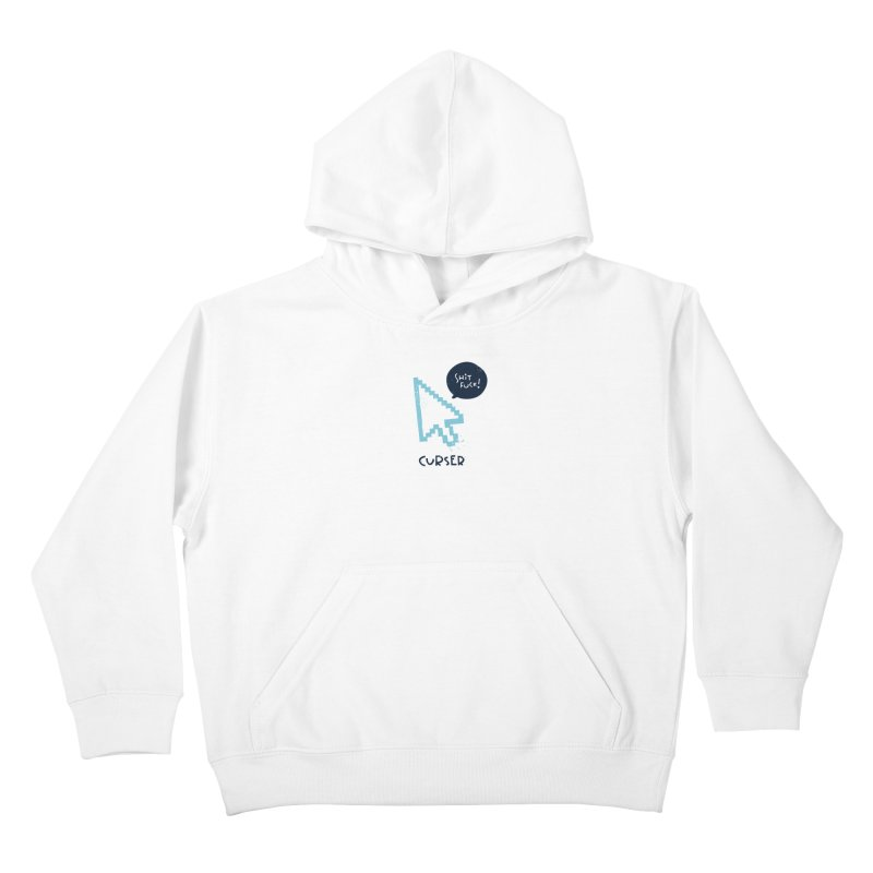 Curser Kids Pullover Hoody by The Pun Shop