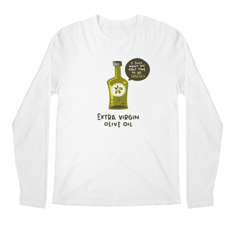 Extra Virgin Men's Regular Longsleeve T-Shirt by The Pun Shop