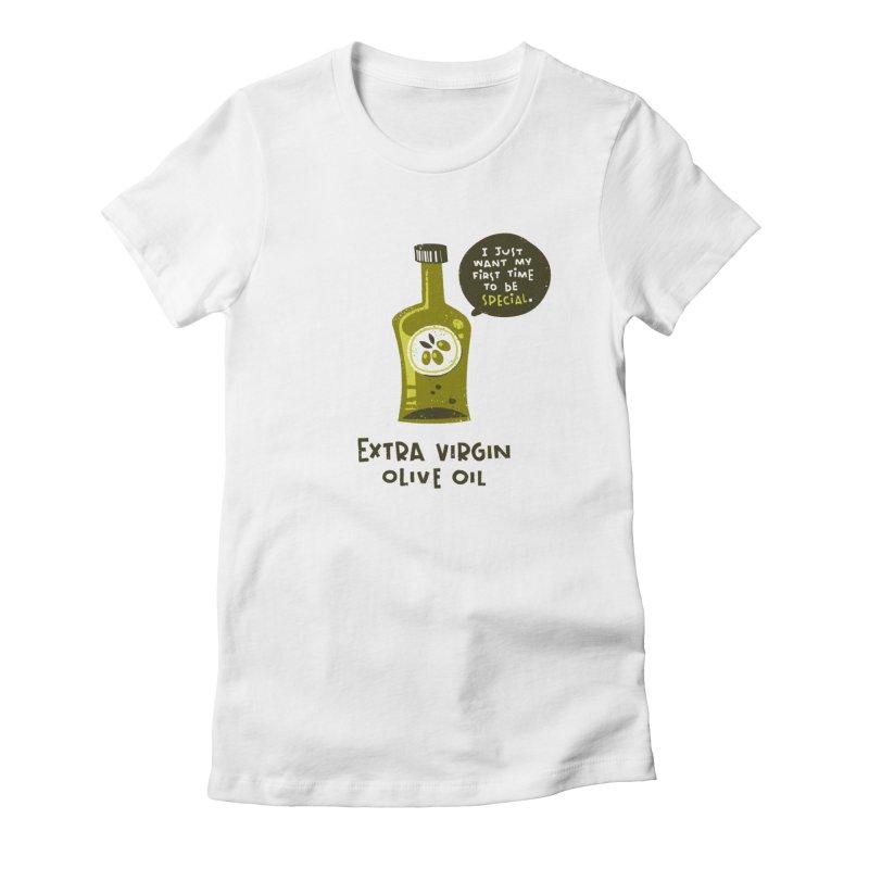 Extra Virgin Women's T-Shirt by The Pun Shop