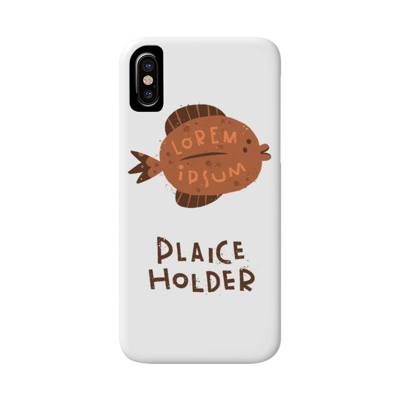 Plaice Holder Accessories Phone Case by The Pun Shop
