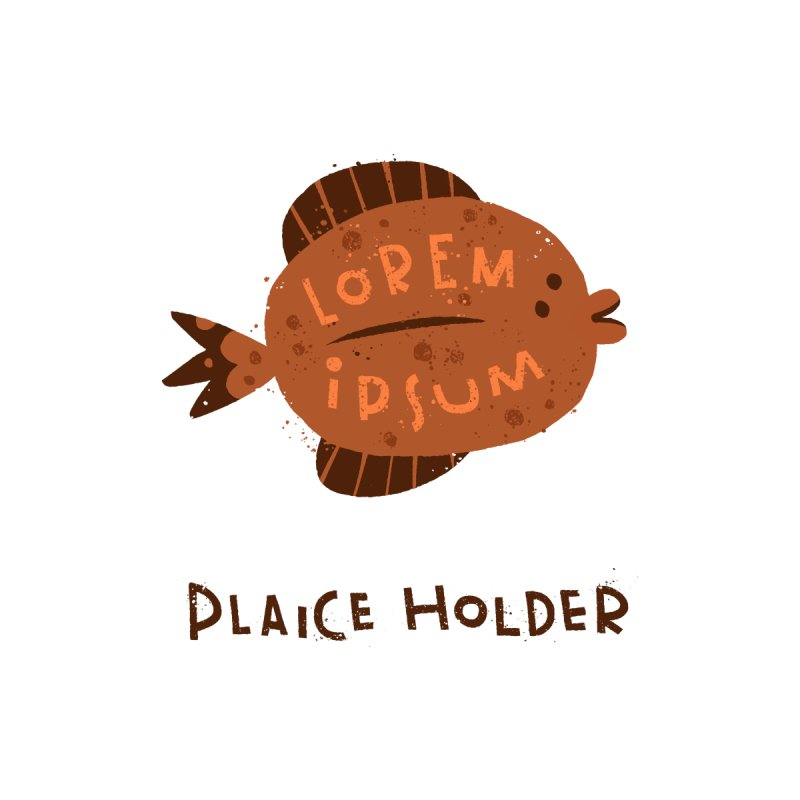 Plaice Holder Home Throw Pillow by The Pun Shop