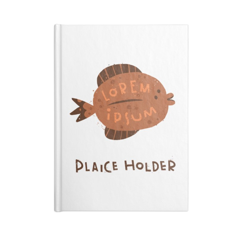 Plaice Holder Accessories Lined Journal Notebook by The Pun Shop