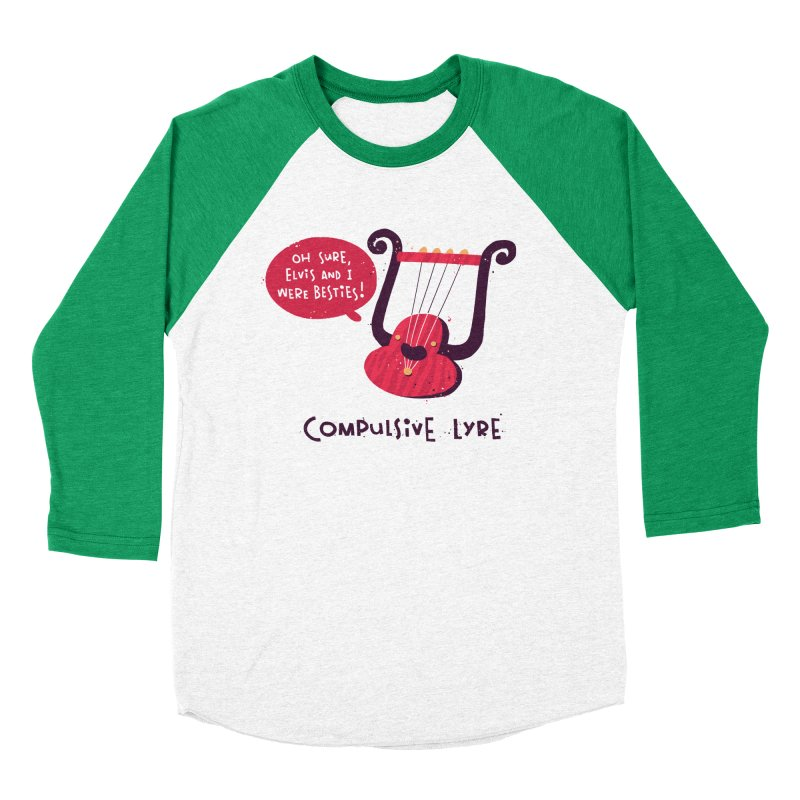Compulsive Lyre Women's Baseball Triblend Longsleeve T-Shirt by The Pun Shop