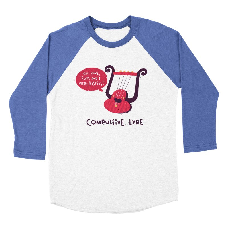 Compulsive Lyre Men's Baseball Triblend Longsleeve T-Shirt by The Pun Shop