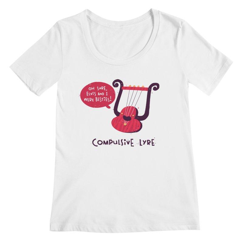 Compulsive Lyre Women's Regular Scoop Neck by The Pun Shop