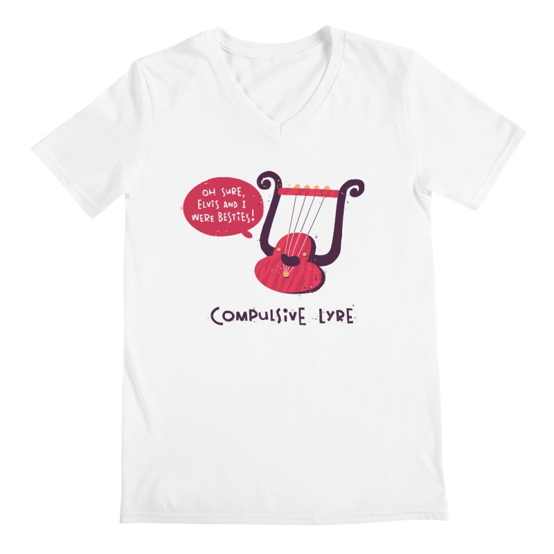 Compulsive Lyre Men's V-Neck by The Pun Shop