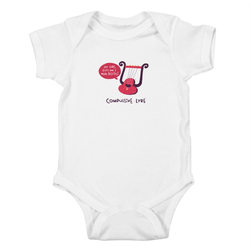 Compulsive Lyre Kids Baby Bodysuit by The Pun Shop