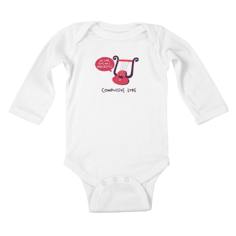 Compulsive Lyre Kids Baby Longsleeve Bodysuit by The Pun Shop