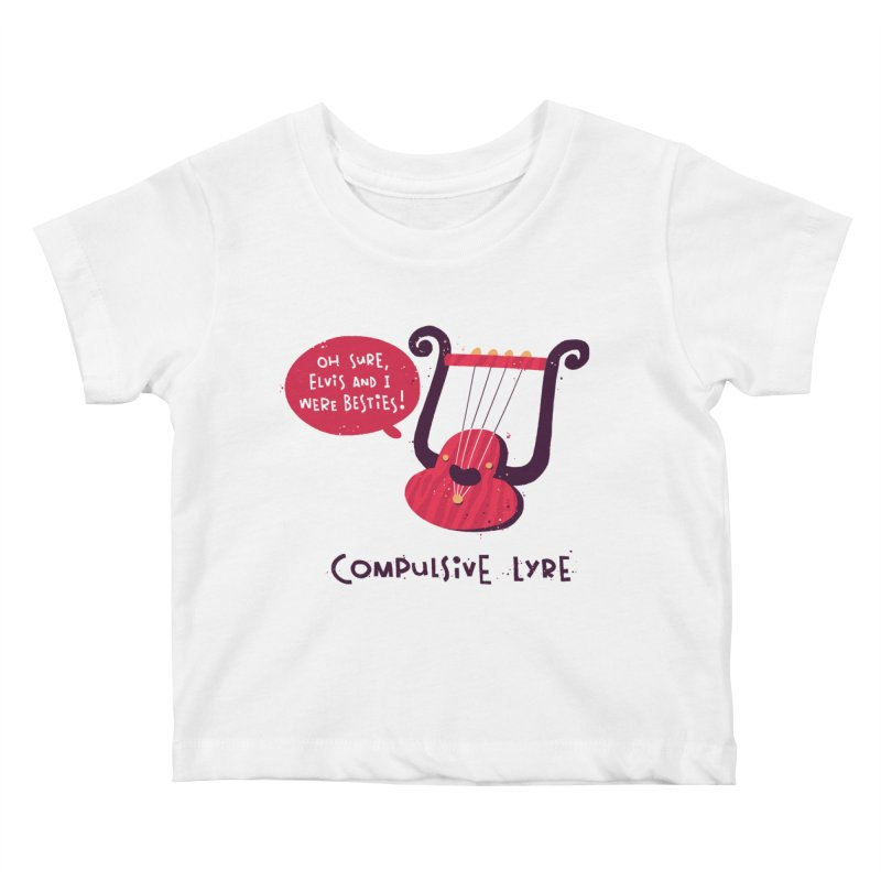 Compulsive Lyre Kids Baby T-Shirt by The Pun Shop
