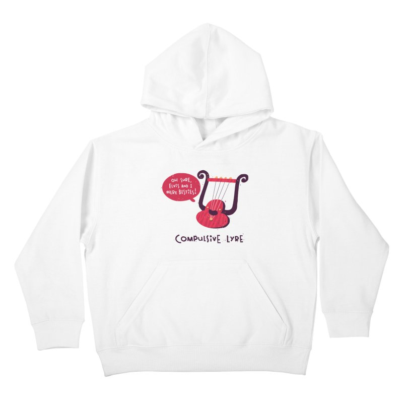 Compulsive Lyre Kids Pullover Hoody by The Pun Shop