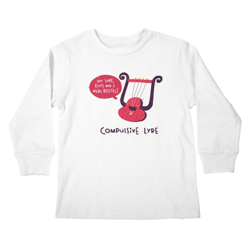 Compulsive Lyre Kids Longsleeve T-Shirt by The Pun Shop