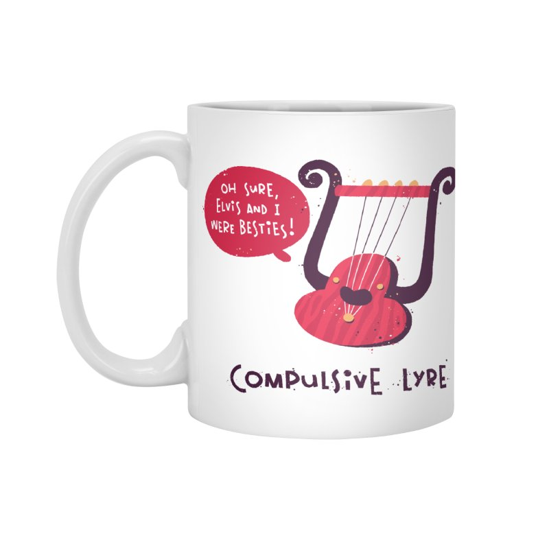 Compulsive Lyre Accessories Standard Mug by The Pun Shop