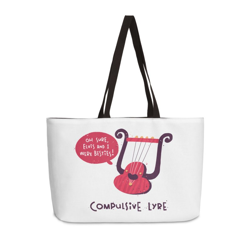 Compulsive Lyre Accessories Weekender Bag Bag by The Pun Shop